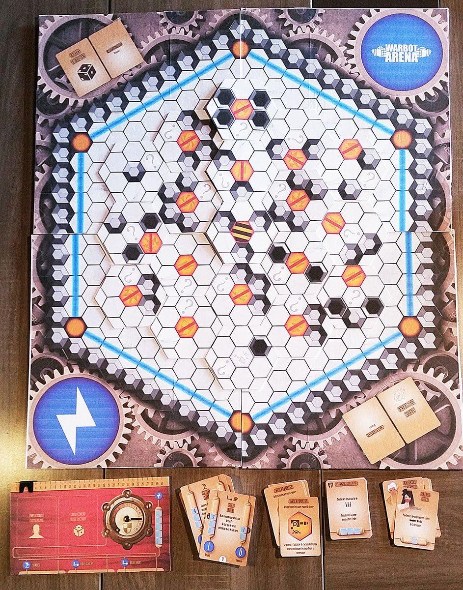 Plateau de jeu du protoype Warbot Arena