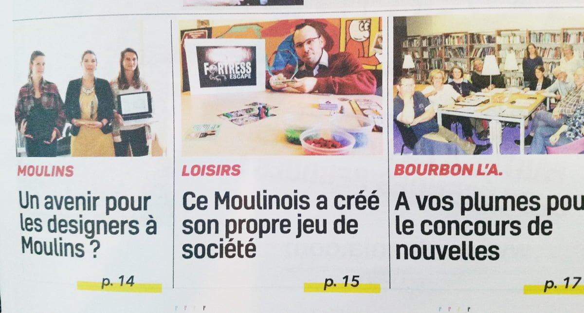 article de presse Semaine de l'Allier